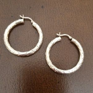 Jewelry - Sterling hoop earrings